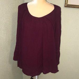 Merona Wine Colored Blouse Size XXL